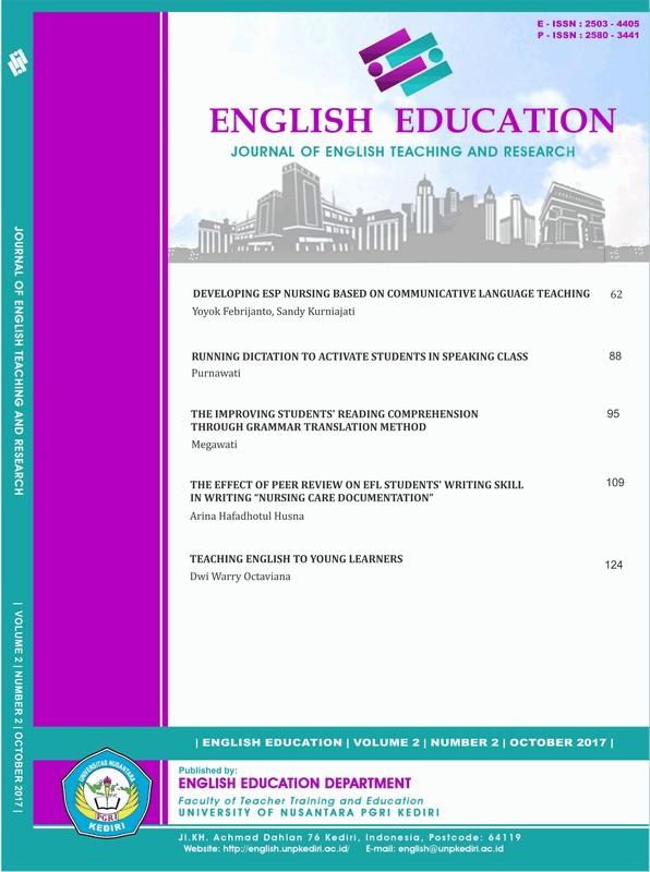 DEVELOPING ESP NURSING BASED ON COMMUNICATIVE LANGUAGE